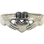 Claddagh Ring, Sterling Silver, Size 14, Vintage Ring, Irish Jewelry, Celtic Ring, 925, Irish Wedding, Heart, Crown, Hands