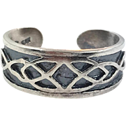 Celtic Knot Ring, Toe Ring, Adjustable Ring, Sterling Silver, Celtic Band, Vintage Ring, Irish Jewelry, 925