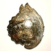 Fine Vintage Siam Sterling Silver & Gold Brooch / Pin