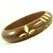 Vintage  Chocolate Bakelite Bangle