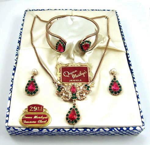 "Boxed 1950s ""Queen Marilyn's Jewels"" Full Parure"