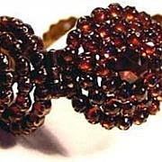 Very Fine Victorian Pinchbeck Bohemian Garnets Bracelet
