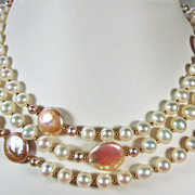 50 Inches of Pearls Long Rope Necklace