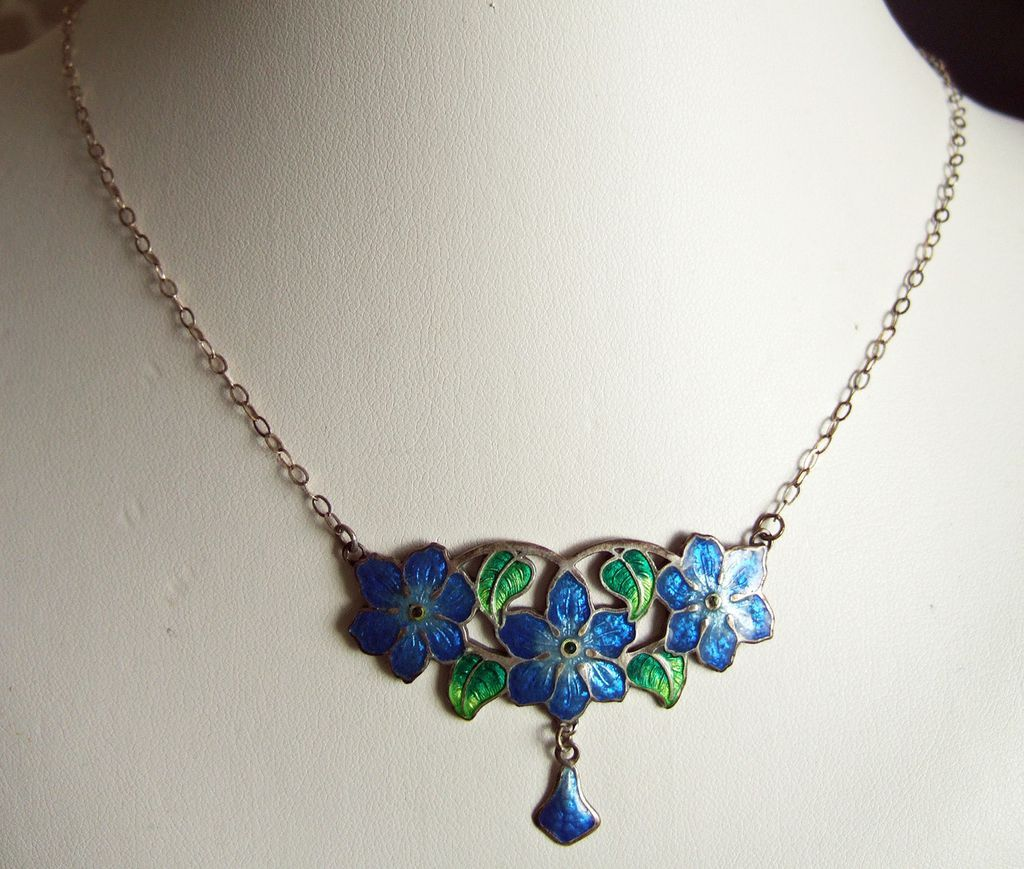 Vintage Silver & Enamel Necklace