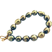 Baroque Tahitian Cultured Pearls & 18 Carat Gold Bracelet