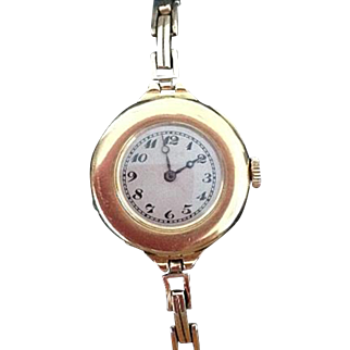IWC Solid 18 Carat Gold Ladies' Half Hunter Wristwatch International Watch Company 1918 / 1919