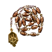 Elegant Vintage Goldstone & Gilded Catholic Chaplet of St. Anne