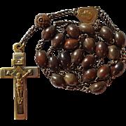 Earthy Vintage Coco Bead Peace Chaplet