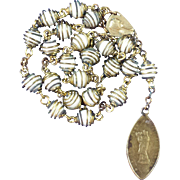 Powerful Peace Chaplet with Antique Notre Dame de France Medal