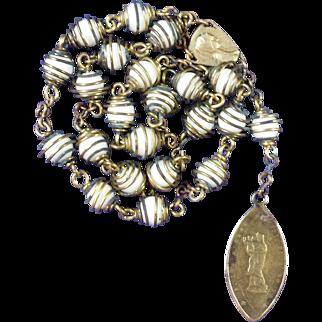 Powerful Peace Chaplet with Antique Notre Dame de France Medal