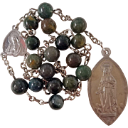 Earthy Jasper St. Dymphna Catholic Rosary Chaplet – For Emotional Comfort