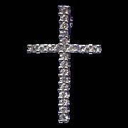 Sparkling Sterling & Cubic Zirconia Cross Pendant