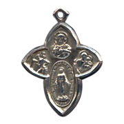 Uniquely Shaped Cruciform 4-Way Devotional Medal – Hallmarked Sterling