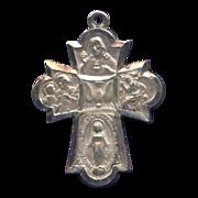 Inspiring 6-Way Cruciform Devotional Medal with Holy Spirit – Hallmarked Sterling