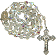 Fabulous Large Chapel Sterling & Crystal Rosary – 58 Glorious Grams