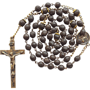 Vintage Scented Rose Petal Bead Catholic Rosary – Handcrafted