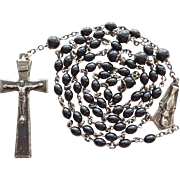 Vintage Creed Sterling & Bakelite Catholic Rosary – Elongated Elegance