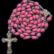 Scarce Victorian Style Hot Pink Rose Petal Rosary – Ecce Homo Center