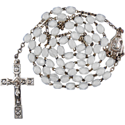 Vintage French Art Deco Catholic Rosary – Rose Motif Crucifix