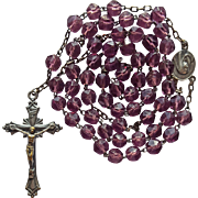 Vintage Catholic Rosary from Italy – Grape Glass Beads