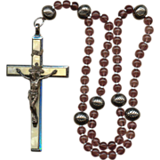 Wonderful 6-Decade German Rosary – Large Roma Crucifix – 83 Grams