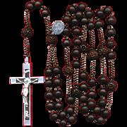 Scarce Seven Sorrows Wood Habit Rosary – Aluminum & Steel – France – 106 Grams