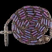 Rare & Elegant Sapphirine / Saphiret & Sterling Rosary – 40 Grams