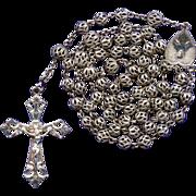 Vintage Feminine All-Filigree Rosary – Glowing Alpacca
