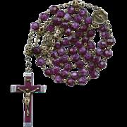 Vibrant Purple Lourdes Relic Rosary
