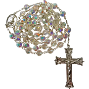 Unusual Nail Head Swarovski Crystal Catholic Rosary – NOS – 56 Grams