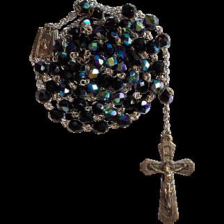 Inspiring Art Deco Glass Rosary – France