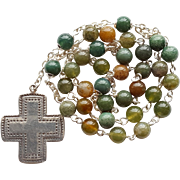 Earthy Sterling & Jasper Anglican Rosary
