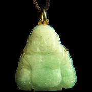 Amazing Vintage Natural Jadeite Jade Happy Buddha Pendant 5.3 g