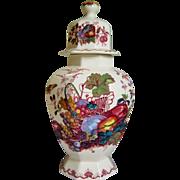 """Large Mason's Ironstone Lidded Temple Jar - Fruit Basket - 16"""""""