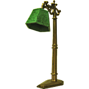 Vintage Tootsie Toy Floor Lamp For Dollhouse - Green Shade