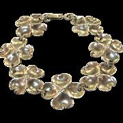 Sterling Silver Stuart Nye Dogwood Link Bracelet - Beautiful!
