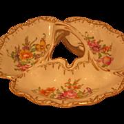 Floral Dresden Porcelain 3 Part Basket By Franziska Hirsch - Flowers
