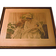 "Original HTF Litho - Bessie Pease Guttman - ""Introducing Baby"""