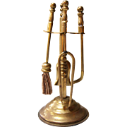Doll's Miniature Brass Fireplace Tools