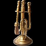 Doll's Miniature Brass Fireplace Tools