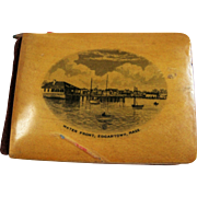 Edgartown, MA Mauchline Ware Notebook W/ Pencil