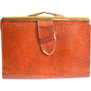 Vintage Leather Passport Wallet W/ Original Lord & Taylor Box