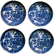 Set Of Blue Willow Butter Pats Wedgwood & Co., Ltd