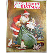 Frances Brundage - The Night Before Christmas - Paper Book