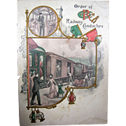 1911 Signed Dance Card - Order Of Railway Conductors