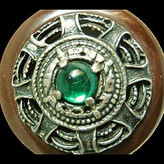 Large Arts & Crafts Style Bakelite Button