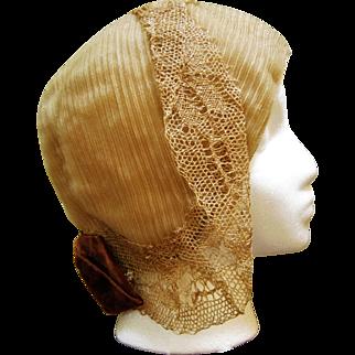 Roaring '20s Flapper's Hat - Horsehair Cloche