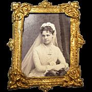 Erhard & Sohne Miniature Ormolu Frame - Bride Photo 1881