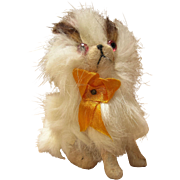 Sweet Tiny Mohair Dog For French Fashion Doll House