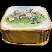 Miniature Candy Box W/ Colored Litho - Bubble Blower